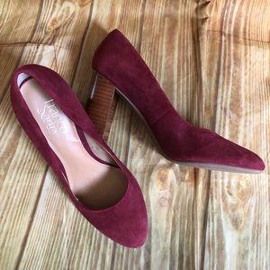 Franco Sarto Burgundy Evie Block Heel Shoes